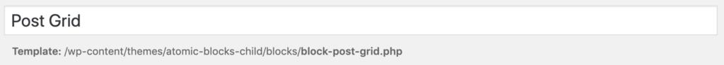 Custom Post Grid Block - Title