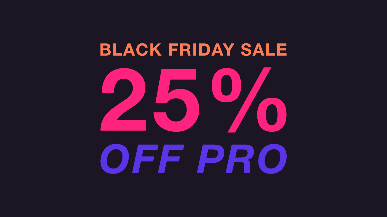 Black Friday Sale & Supporting WP&UP